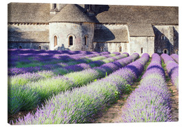Toile  Famous Senanque abbey with its lavender field, Provence, France - Matteo Colombo