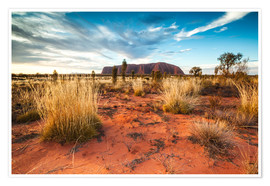 Poster  Red Desert at Ayers Rock - Matteo Colombo
