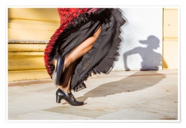 Poster  Close up of flamenco dancer performing in Seville, Spain - Matteo Colombo