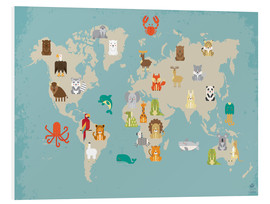 Forex  The animal world map for the nursery - Petit Griffin