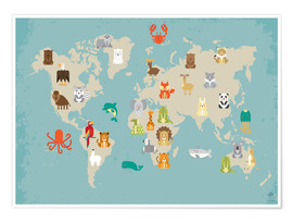 Petit Griffin - The animal world map for the nursery