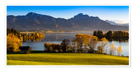 Poster  Lake in Bavaria with Alps - Michael Helmer