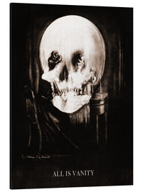 Tableau en aluminium  All is vanity (sépia) - Charles Allan Gilbert