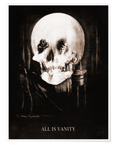 Poster All is vanity (sépia)