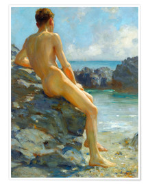 Poster  The Bather - Henry Scott Tuke