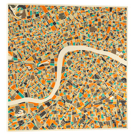 Verre acrylique  London Map - Jazzberry Blue