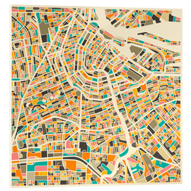 Verre acrylique  Amsterdam Map - Jazzberry Blue
