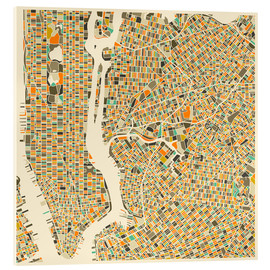 Verre acrylique  New York City Map - Jazzberry Blue