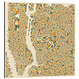 Alu-Dibond  New York City Map - Jazzberry Blue