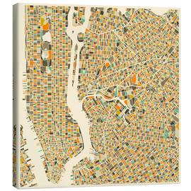 Toile  New York City Map - Jazzberry Blue