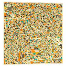 Verre acrylique  Berlin Map - Jazzberry Blue