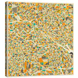 Toile  Berlin Map - Jazzberry Blue