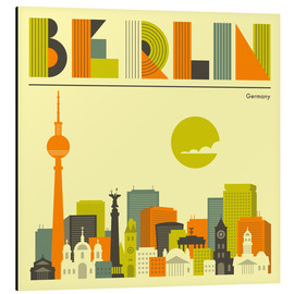 Alu-Dibond  Berlin Skyline - Jazzberry Blue