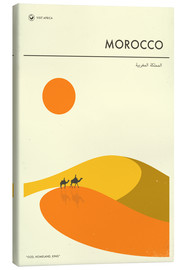 Toile  Morocco Travel Poster - Jazzberry Blue