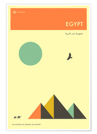 Poster  Egypt - Jazzberry Blue