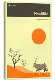 Toile  Namibia Travel Poster - Jazzberry Blue