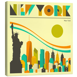 Tableau sur toile  Skyline de new york - Jazzberry Blue