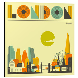 Alu-Dibond  London Skyline - Jazzberry Blue