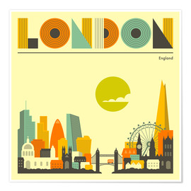 Poster  Skyline de Londres - Jazzberry Blue