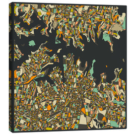 Toile  Sydney Map - Jazzberry Blue