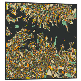 Tableau en PVC  Sydney Map - Jazzberry Blue