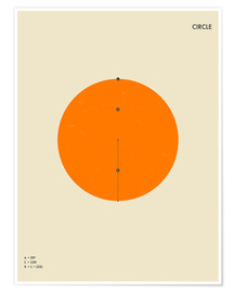 Poster  Cercle (anglais) - Jazzberry Blue