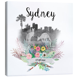 Toile  Sydney collage - GreenNest
