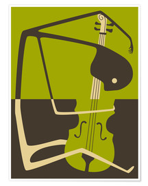 Poster Violoncelle jazz