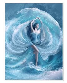 Poster  Sea dress - Elena Dudina