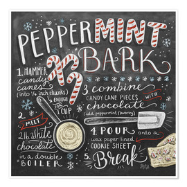 Poster  Peppermint Bark Recipe - Lily & Val