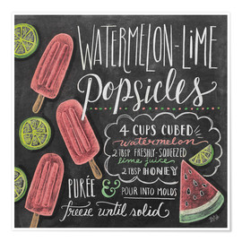 Poster  Watermelon Popsickles - Lily & Val