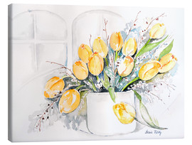Tableau sur toile  Tulips by the window - Maria Földy