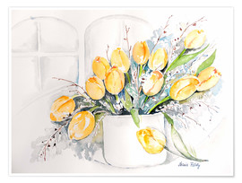 Poster  Tulips by the window - Maria Földy