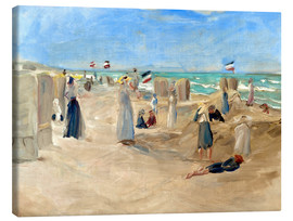 Tableau sur toile  On the beach in Noordwijk - Max Liebermann