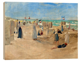 Tableau en bois  On the beach in Noordwijk - Max Liebermann