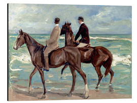 Alu-Dibond  Two riders on the beach - Max Liebermann