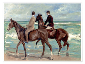 Poster  Two riders on the beach - Max Liebermann