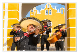 Poster  Mexican Mariachi musicians with sombrero, Mexico - Matteo Colombo
