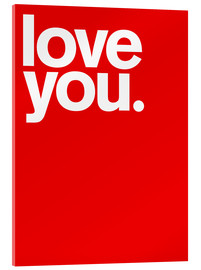 Verre acrylique  Love you - THE USUAL DESIGNERS