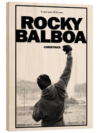 Tableau en bois  Rocky Balboa (anglais) - Entertainment Collection