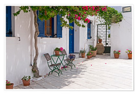 Poster  Cycladic island of Paros - mountain village Lefkes - Anna Reinert