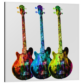 Tableau en aluminium  Guitares - Mark Ashkenazi