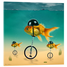 Verre acrylique  gold fish - Mark Ashkenazi