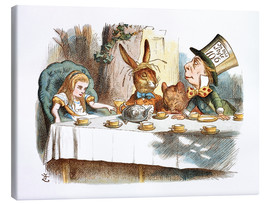 Toile  Alice in Kaffeeklatsch - John Tenniel