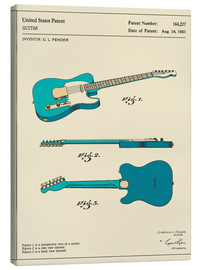 Toile  Guitar Patent (1951) - Jazzberry Blue