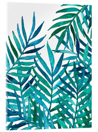 Verre acrylique  Watercolor Palm Leaves on White - Micklyn Le Feuvre
