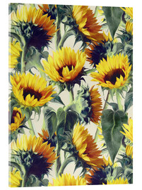 Verre acrylique  Sunflowers forever - Micklyn Le Feuvre