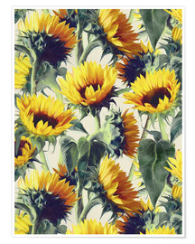 Poster  Sunflowers forever - Micklyn Le Feuvre
