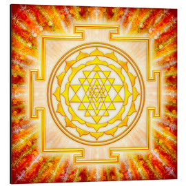 Alu-Dibond  Sri Yantra - Artwork Light - Dirk Czarnota