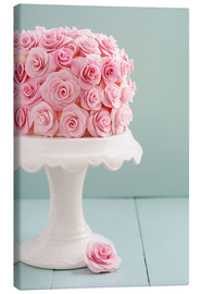 Toile  Cake with roses made of sugar - Elisabeth Cölfen